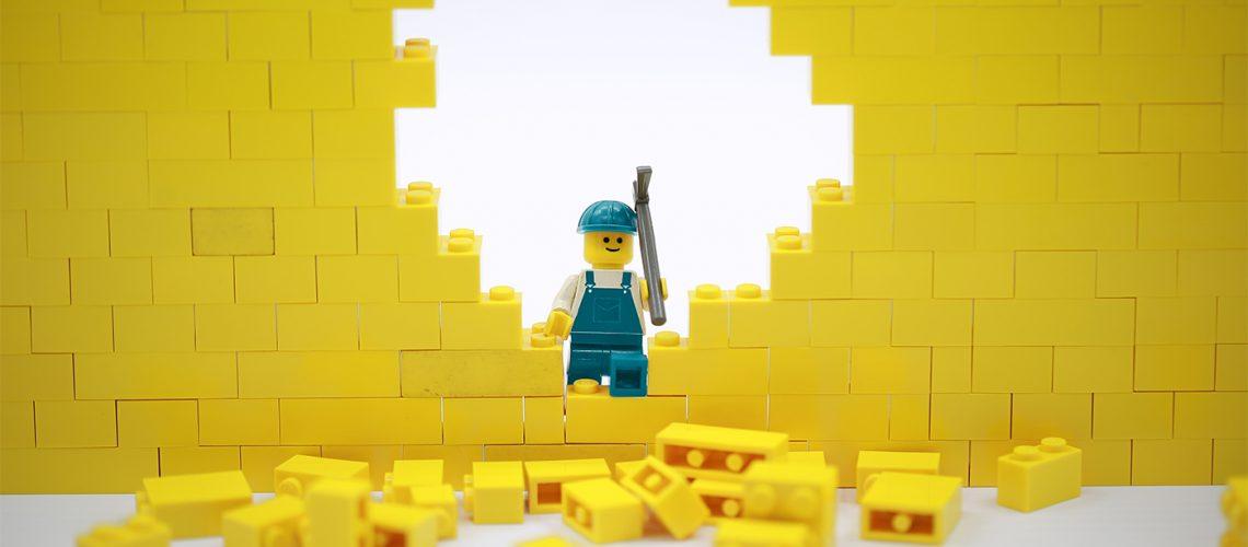 Hong Kong/China, May 25 2018: Studio shot of Lego people, combin